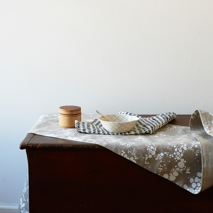 Here's something to be filed under 'finally' — textile designer Rebecca Atwood just launched table linens! see more on jojotastic.com