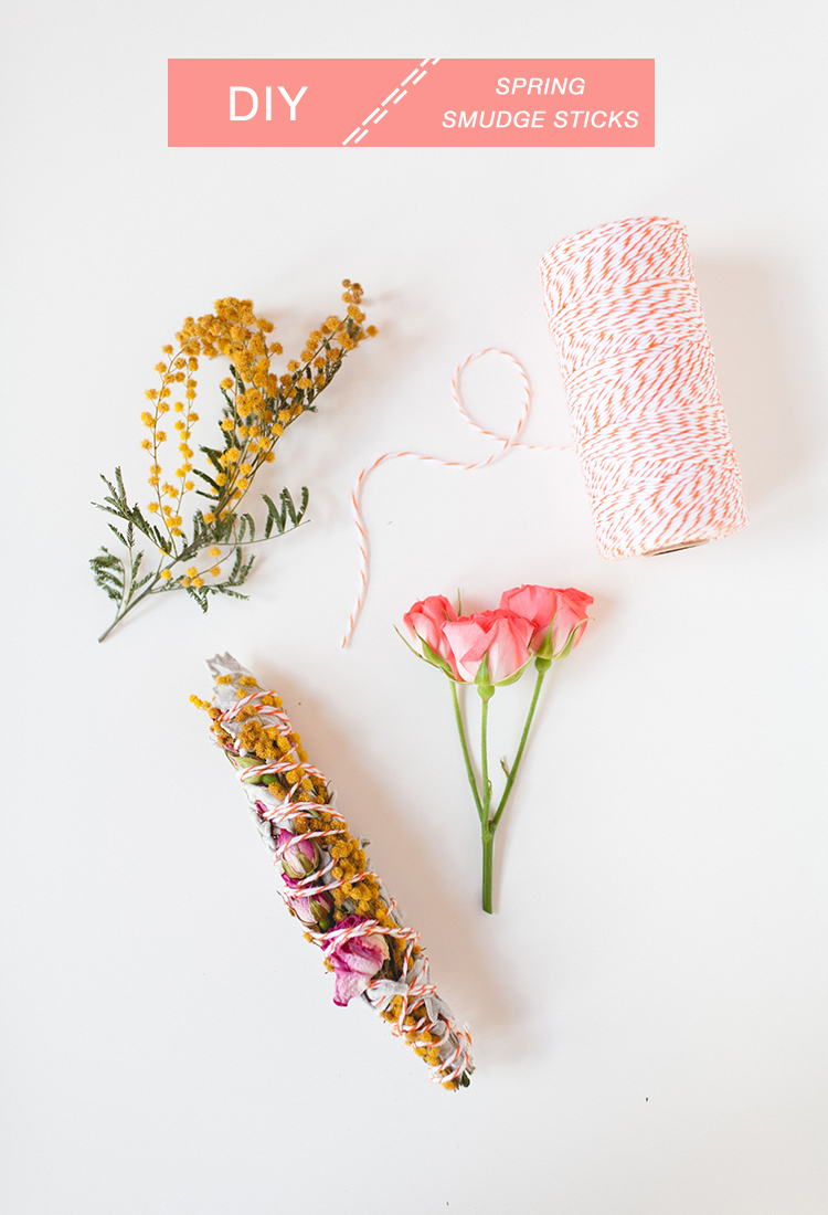 Cleanse your space for spring with this easy DIY! how to make smudge sticks for your space or a thoughtgul spring cleaning gift at jojotastic.com