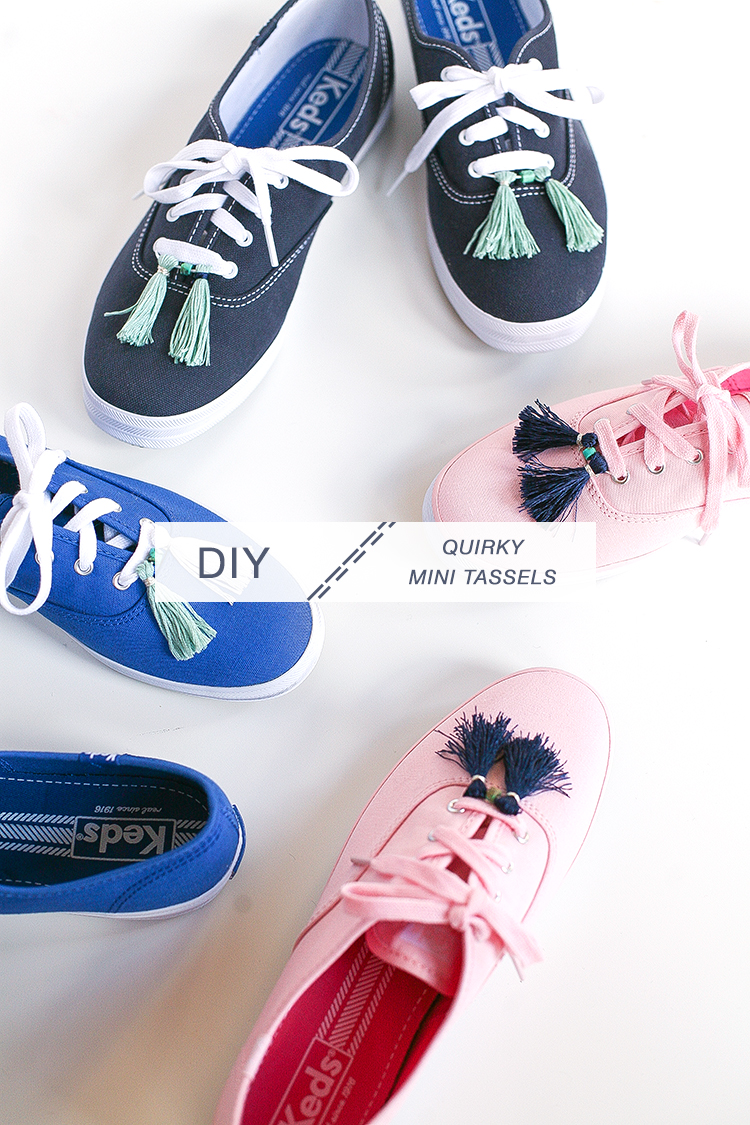 DIY // quirky sneakers with @keds1916 + @Zappos — create these cute mini tassels to perk up your classic sneakers and embrace your personal style. get the full craft project on jojotastic.com #zapposstyle #kedsstyle #ladiesfirst