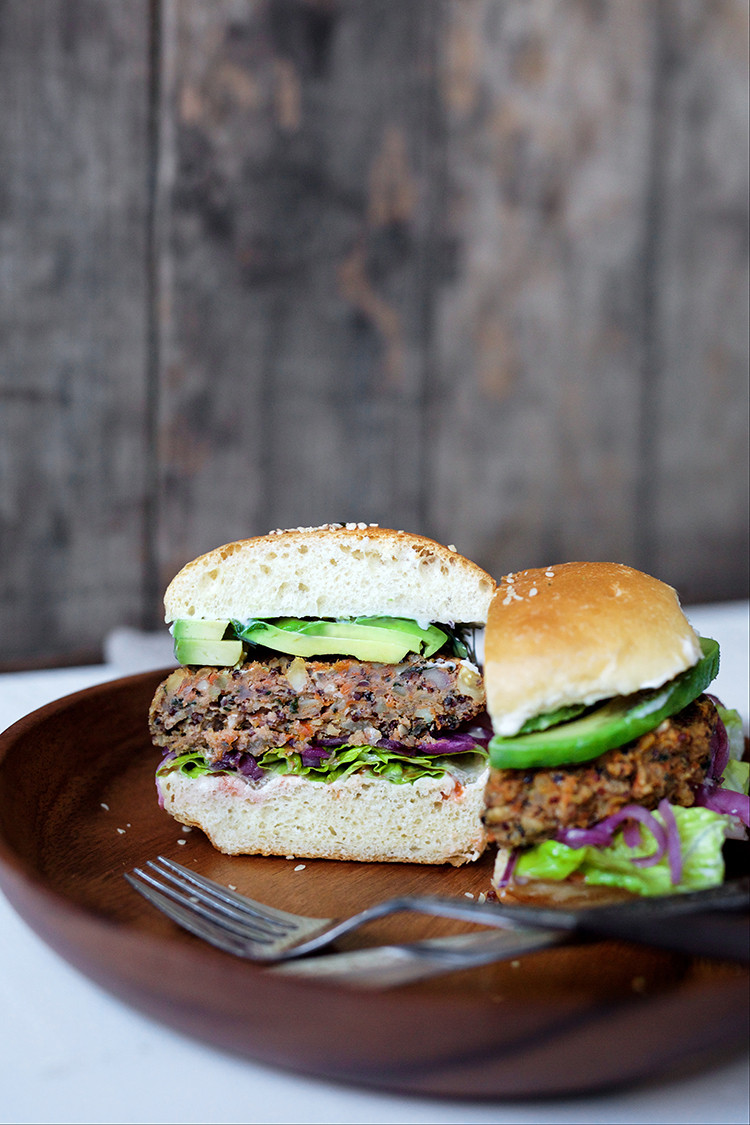 trying to eat healthier? check out this recipe for gluten-free sweet potato quinoa burgers on jojotastic.com