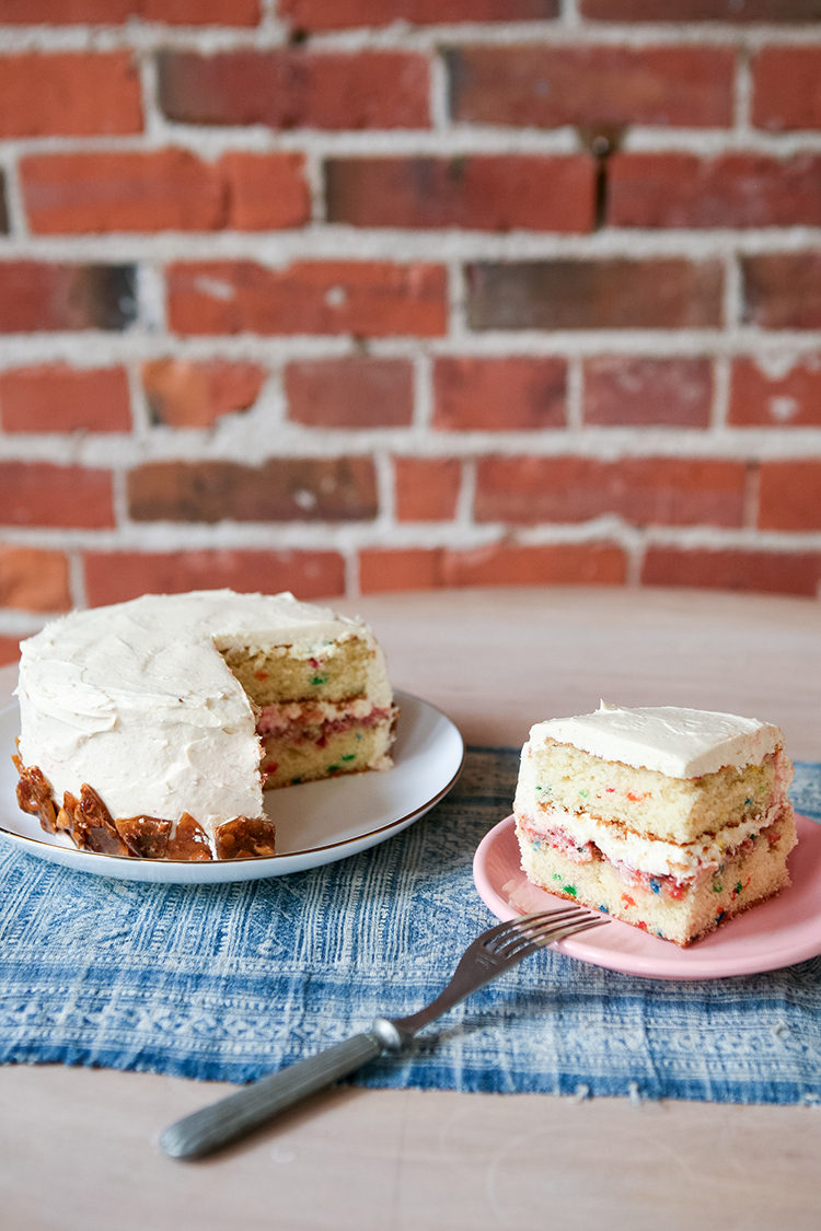 today on the blog: my ultimate birthday cake. this sweet treat is momofuku-inspired with touches of funfetti and strawberry glaze. get the full recipe on jojotastic.com!