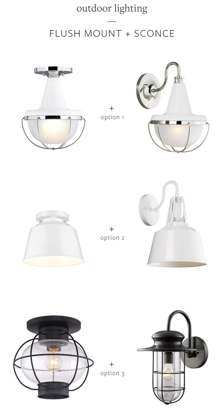 help me pick new outdoor lighting for my tiny bungalow here in Seattle! which one do you like best? weigh in on jojotastic.com (and see more boho-meets-modern entryway inspiration)
