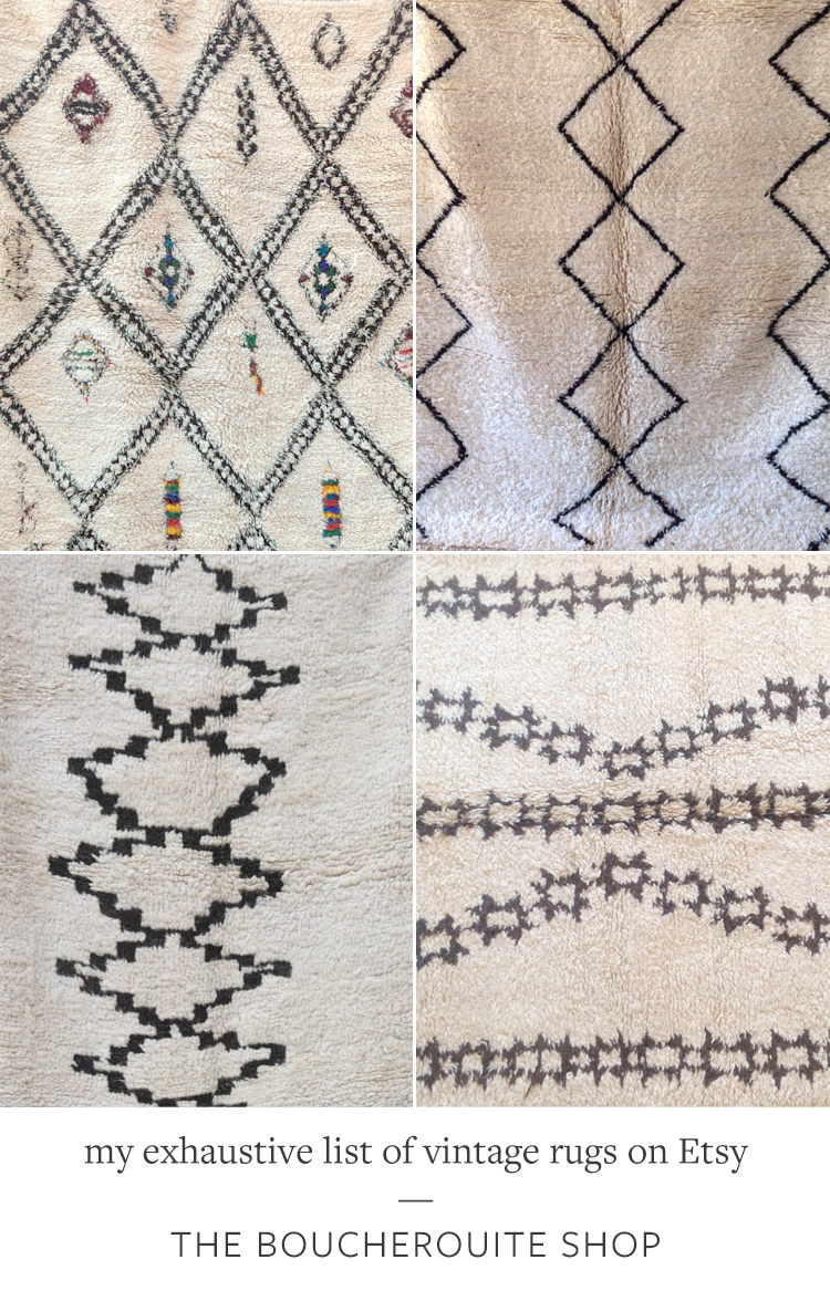 While working on my living room makeover, I've found hundreds of gorgeous vintage rug resources — check out my exhaustive list of my favorite @Etsy shops on Jojotastic.com + be sure to bookmark this post for your own interior design project!