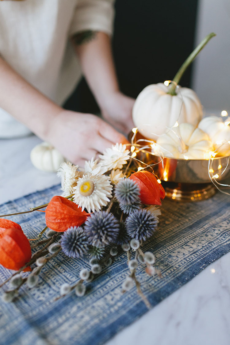 jojotastic - DIY // dried flowers + white pumpkin centerpiece (great ...