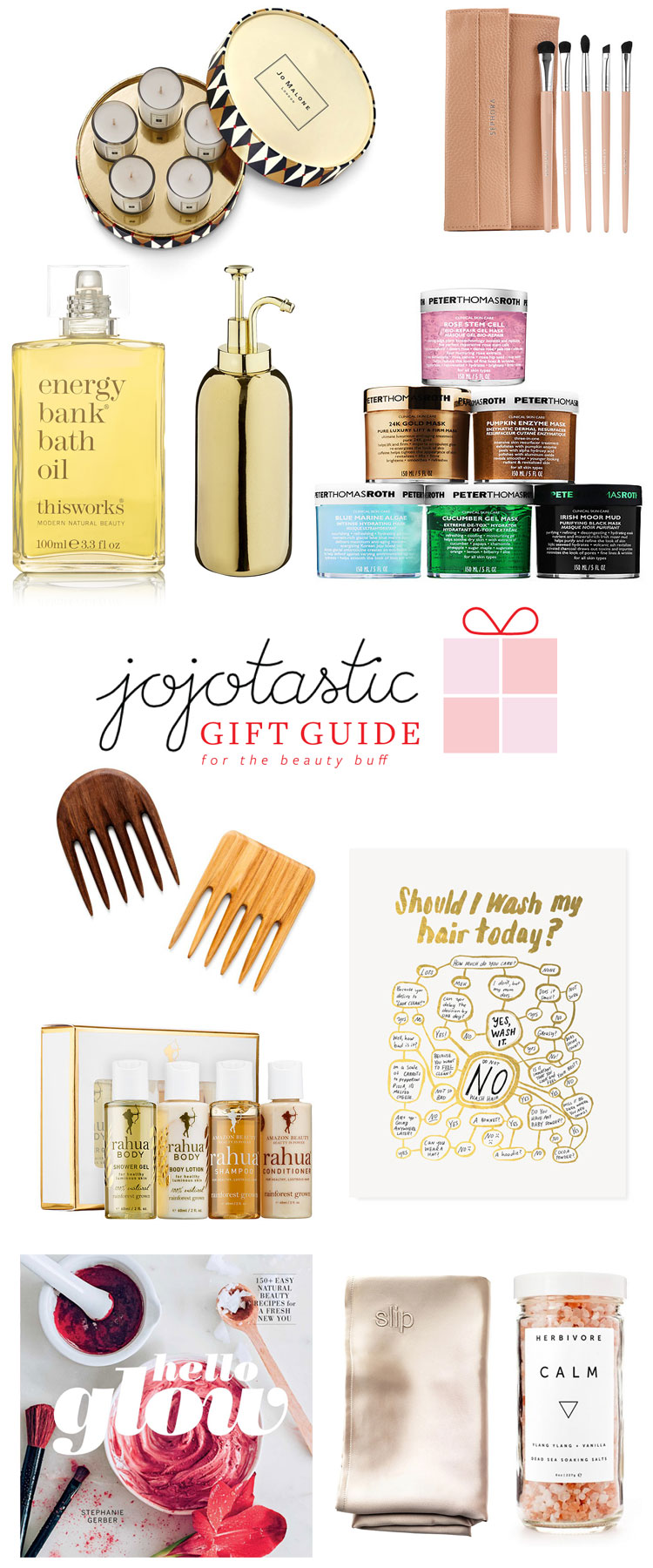 Ultimate Gift Guide: for the beauty buff! Over 30 unique gift ideas and stocking stuffers — get the full guide on Jojotastic.com