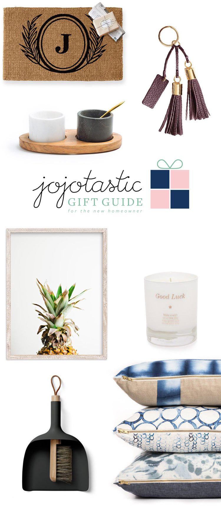 Ultimate Gift Guide: for the new homeowner! Over 30 unique gift ideas and stocking stuffers whether they own a new home, a tiny house, or a fier upper — get the full guide on Jojotastic.com