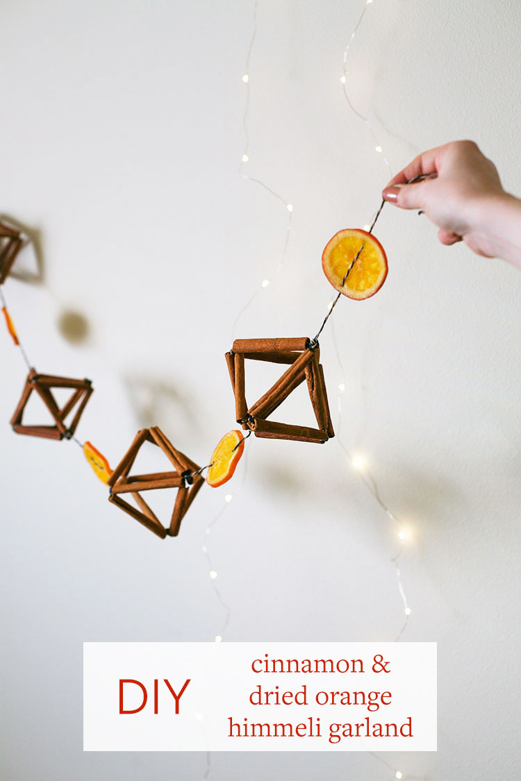 Add a festive garland to your space with a few materials that might already be hiding in your pantry! Head to jojotastic.com for the full cinnamon stick himmeli + dried orange slice garland tutorial.