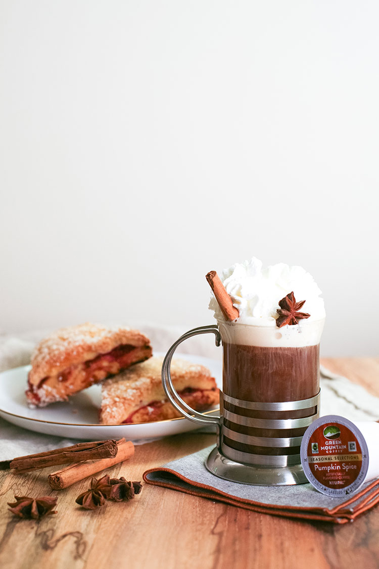 Learn about Fair Trade Certified coffee thanks to @Keurig and @greenmtncoffee + learn how to make these two coffee cocktails perfect for Sunday morning brunch: coffee old fashioned with sugared orange garnish and spiked pumpkin spice coffee cocktail! Learn more on Jojotastic.com #greenmountaincoffee #ad
