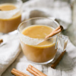 celebrate the holiday season + entertain guests with this amazing cocktail recipe for Hot Buttered Rum that is also gluten free and dairy free! Get the full recipe from Jojotastic.com