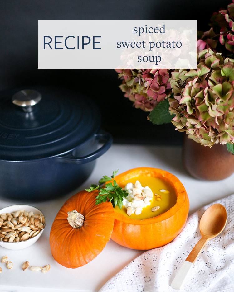 Celebrate Friendsgiving (or Thanksgiving) with this spiced sweet potato soup recipe (served in pumpkin bowls!) from @buzzfeed and @americanexpress. Get more holiday inspiration from these awesome videos epic entertaining videos and get more hosting tips on Jojotastic.com #BlueCashEveryday #sponsored