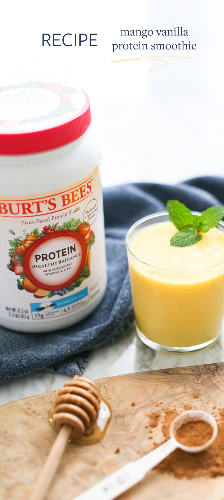 @burtsbees Vanilla Protein Shake is the perfect addition to my healthy eating routine. We partnered to share a healthy recipe for Mango Vanilla Protein Smoothies, plus my favorite fitness tips. Read more and get the full recipe on Jojotastic.com #drinkitallin #sponsored