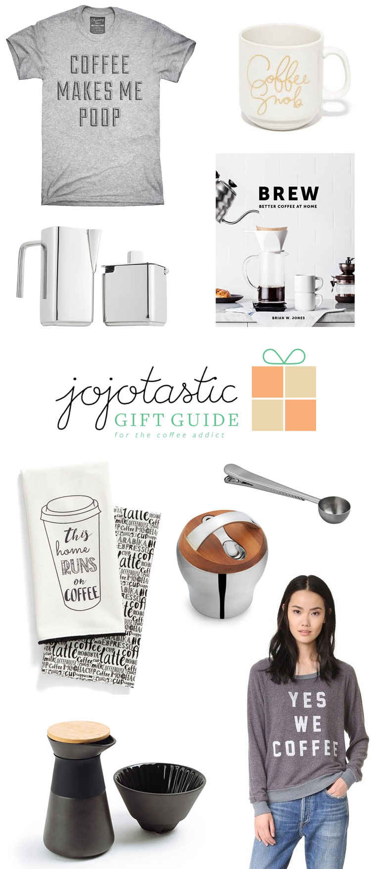 the ultimate gift guide for the coffee addict in your life — over 20 gift ideas for the holidays! find more inspiration on jojotastic.com