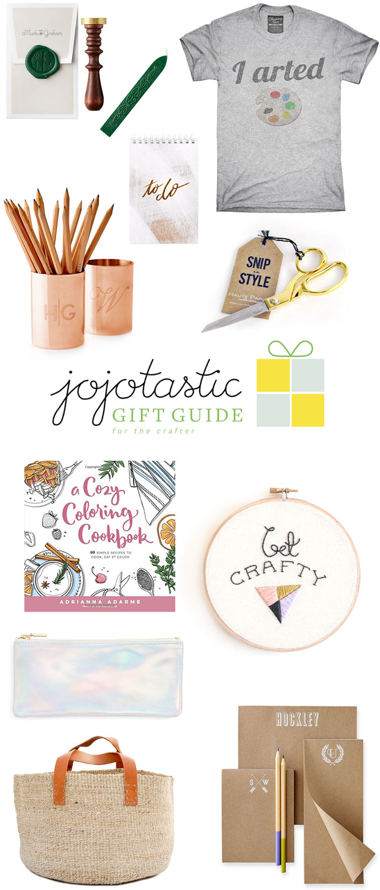 the ultimate gift guide for the crafter / crafter person in your life! loads of creative gift ideas — more on Jojotastic.com