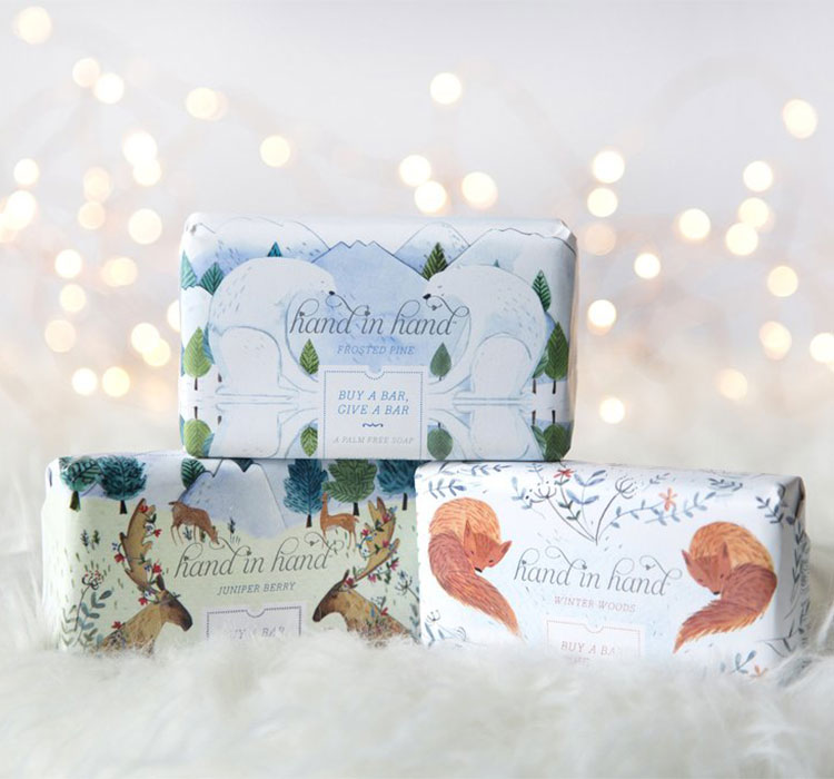 GIVEAWAY! enter to win fair-trade, cruelty-free, all natural soap from @handinhandsoap — 5 winners total! Get all of the details on jojotastic.com