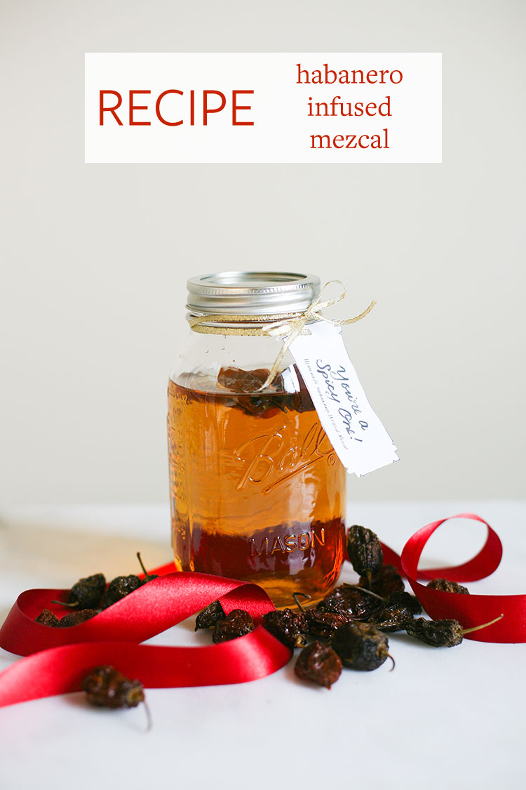 3 recipes for infused liquors: Orange + Pomegranate Infused Vodka, Habanero Infused Mezcal, and Pie Spice Infused Rum — they make a great handmade homemade gift! Plus get the free download for the gift tags hand letteredby @chipperthings — Get the full recipe on Jojotastic.com