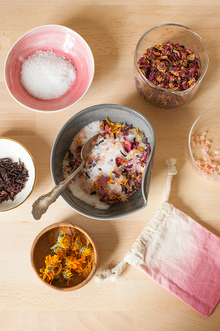 Learn how to make your own floral bath salts with himalayan pink learn how to make your own floral bath salts with himalayan pink salt epsom salts and dried flowers like rose hibiscus and calendula for the ultimate in izmirmasajfo