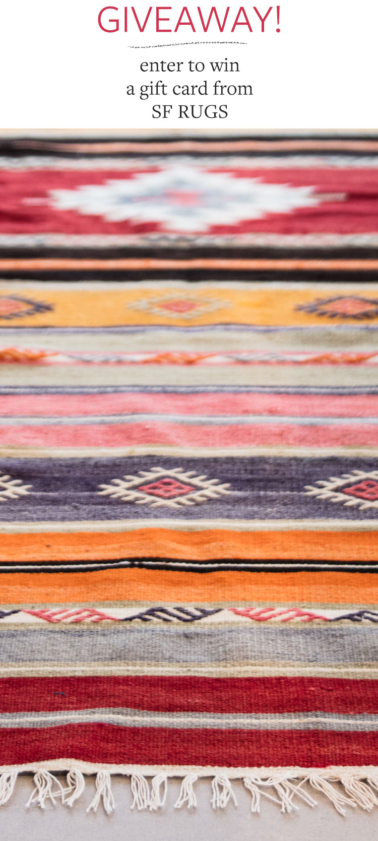 Meet SF Rugs, my new favorite source for antique and vintage rugs, plus enter to wine a giveaway to win! More boho interior decor inspiration on jojotastic.com