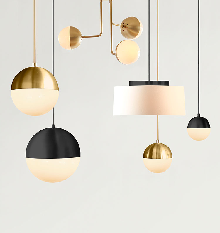 Matte Black And Brass Bedroom Lighting Fixtures Round Up. Flush Mount, Semi