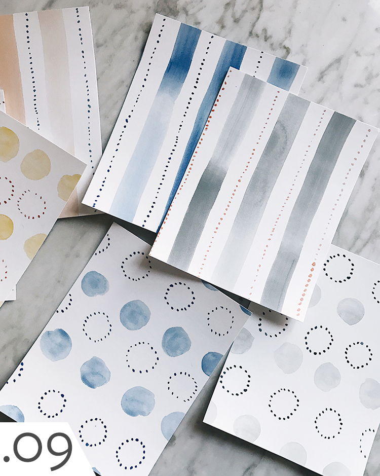 Rebecca Atwood handpainted watercolor removable wallpaper for Chasing Paper
