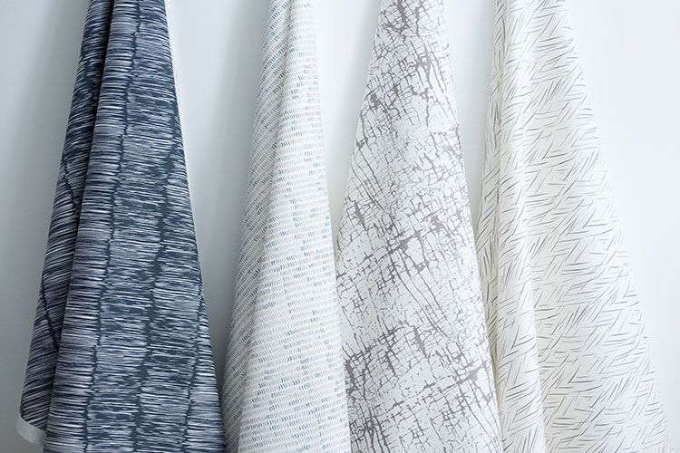 nature inspired printed textiles from Made of Cloth. blue, white and natural linen patterns. Find more interior design inspiration on jojotastic.com