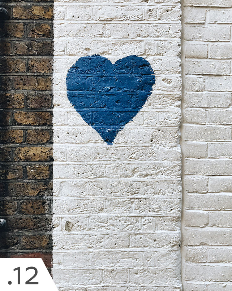 blue heart graffiti found in London