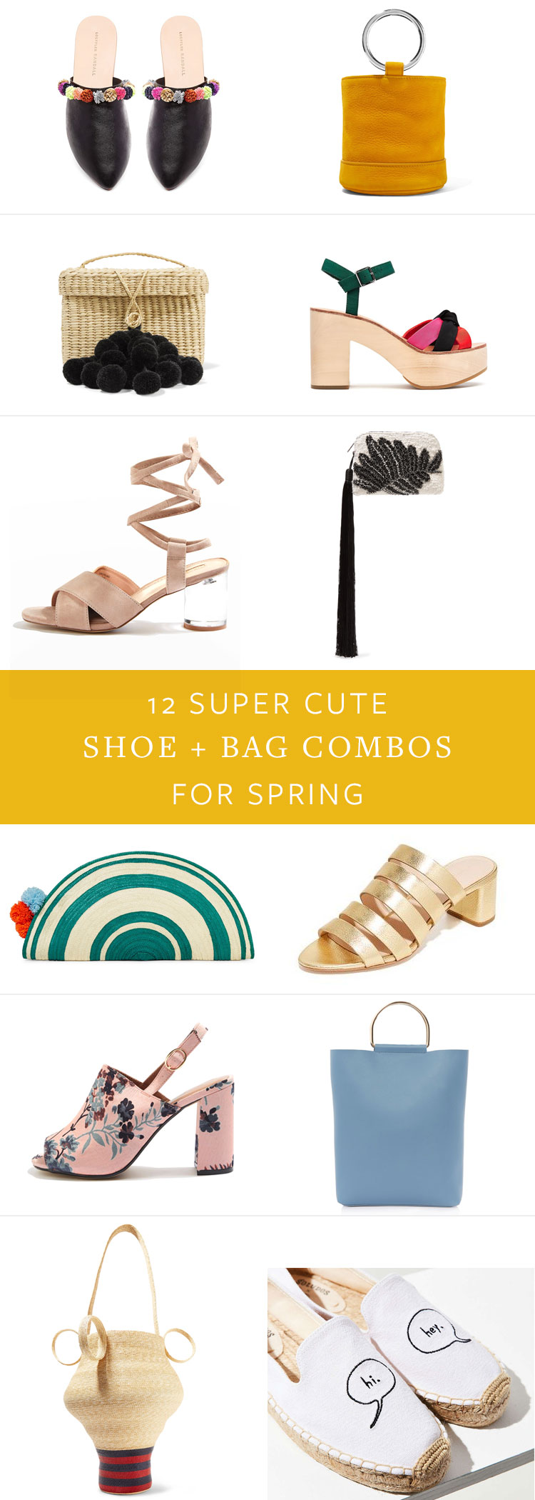 12 super cute shoe + bag combos for spring. more fashion inspiration on jojotastic.com