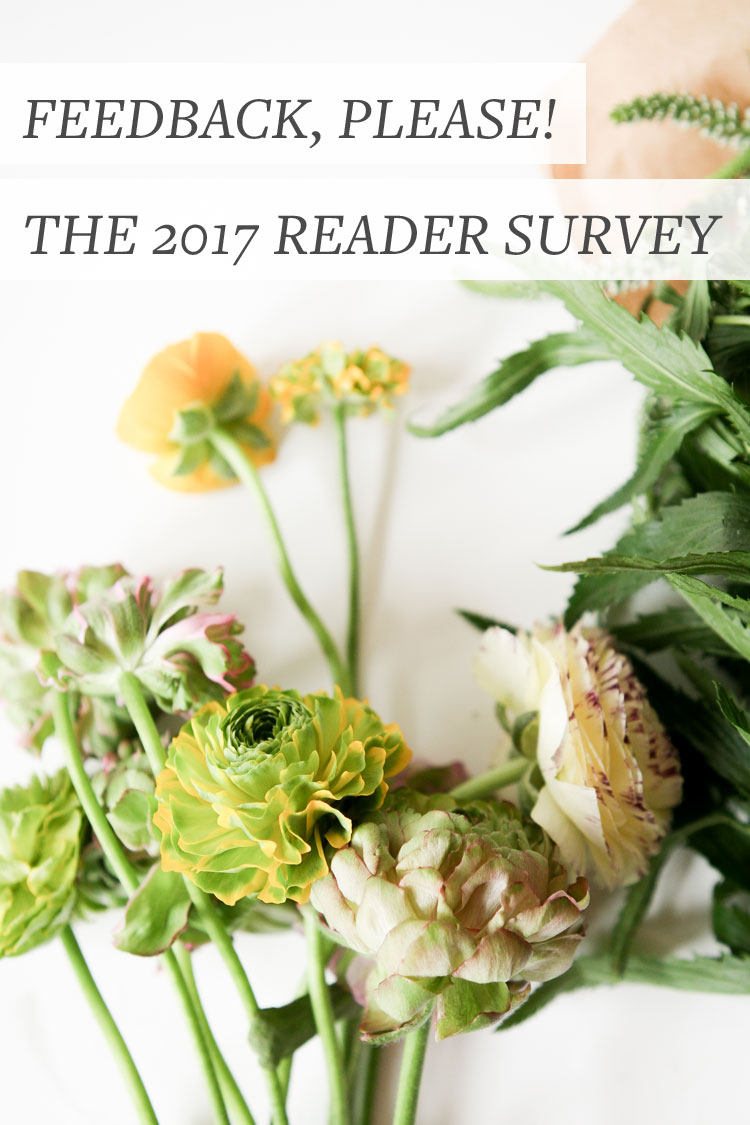 Help! I'd love your feedback on my blog. 2017 reader survey on jojotastic.com