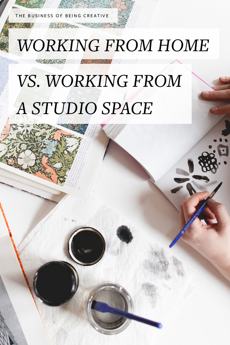 The Business of Being Creative Double-Take: working from home vs. a studio space. Advice for small businesses, boss ladies, and creatives — more tips on jojotastic.com