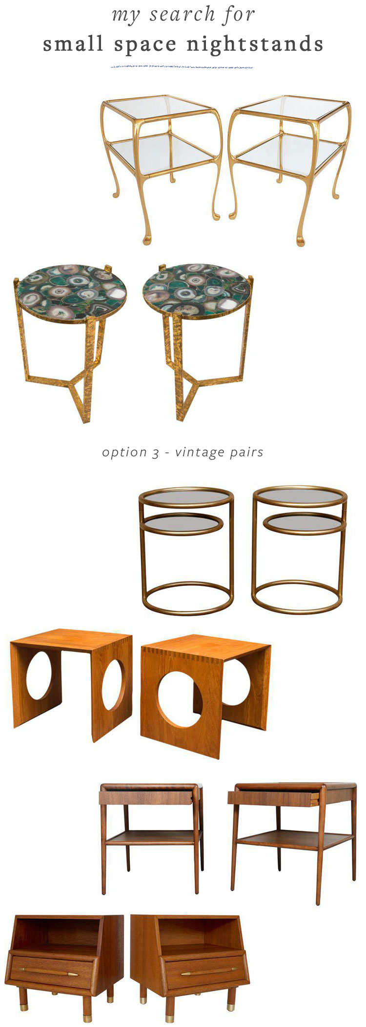 my search for white small space friendly nightstands for my tiny house bedroom renovation / makeover. get all of the shopping resources on jojotastic.com