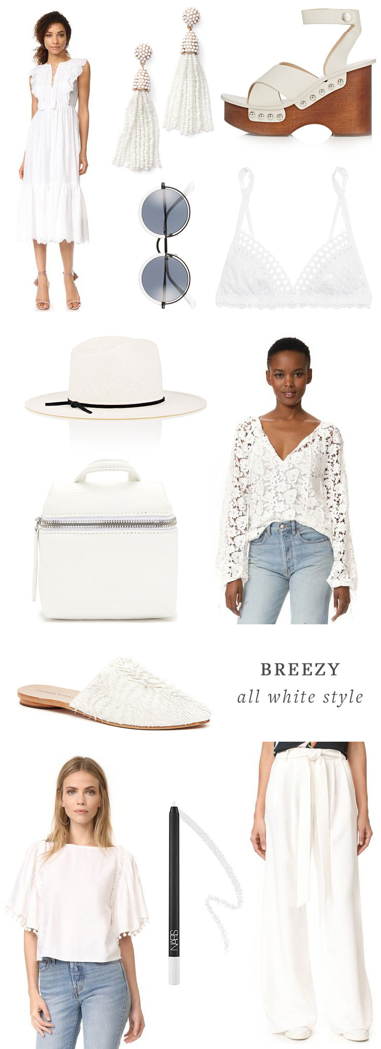 get the look: all white fashion staples for summer via jojotastic on jojotastic.com