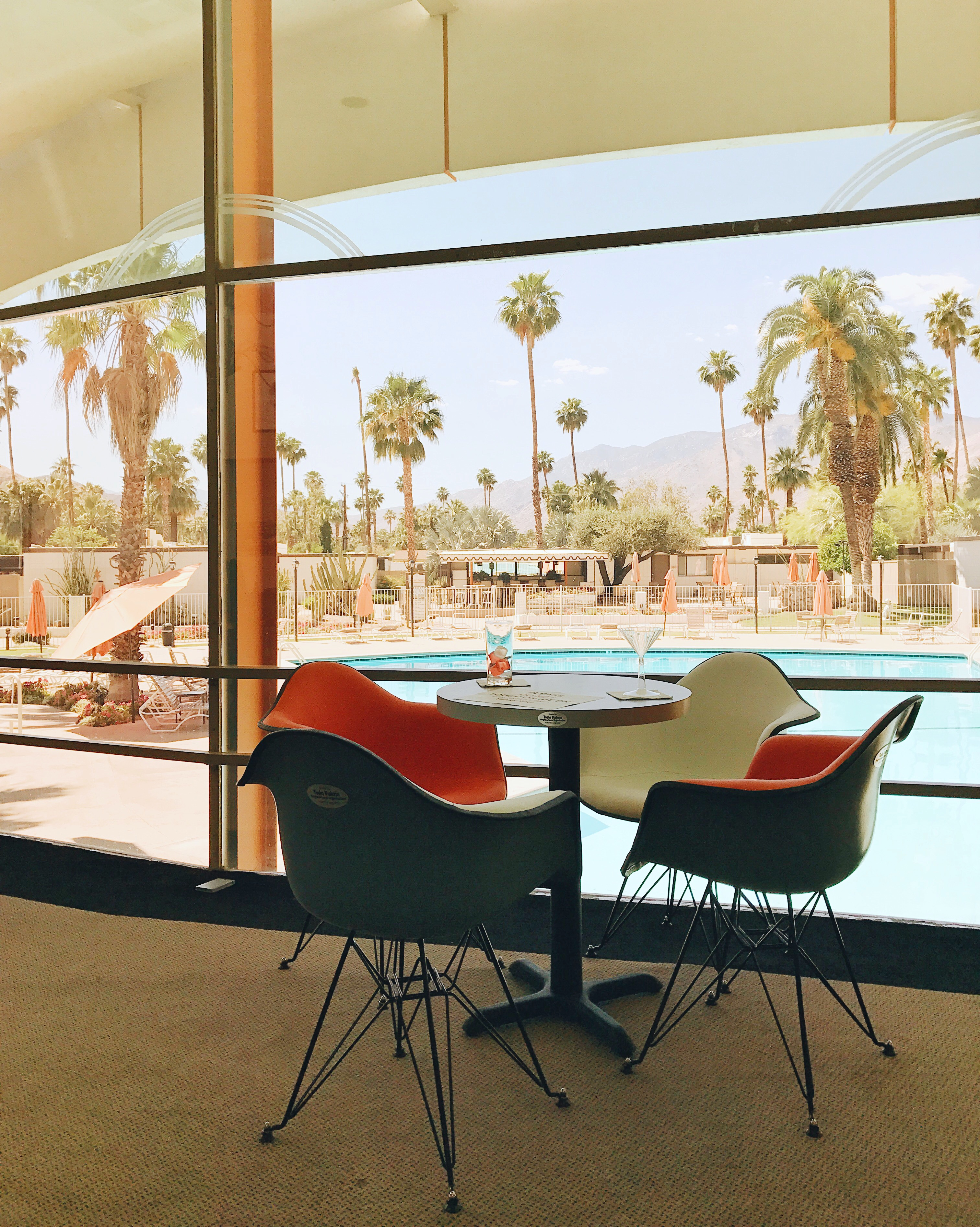 jojotastic travel guide and visual diary for palm springs. mid century modern airbnb rental at the ocotillo lodge.