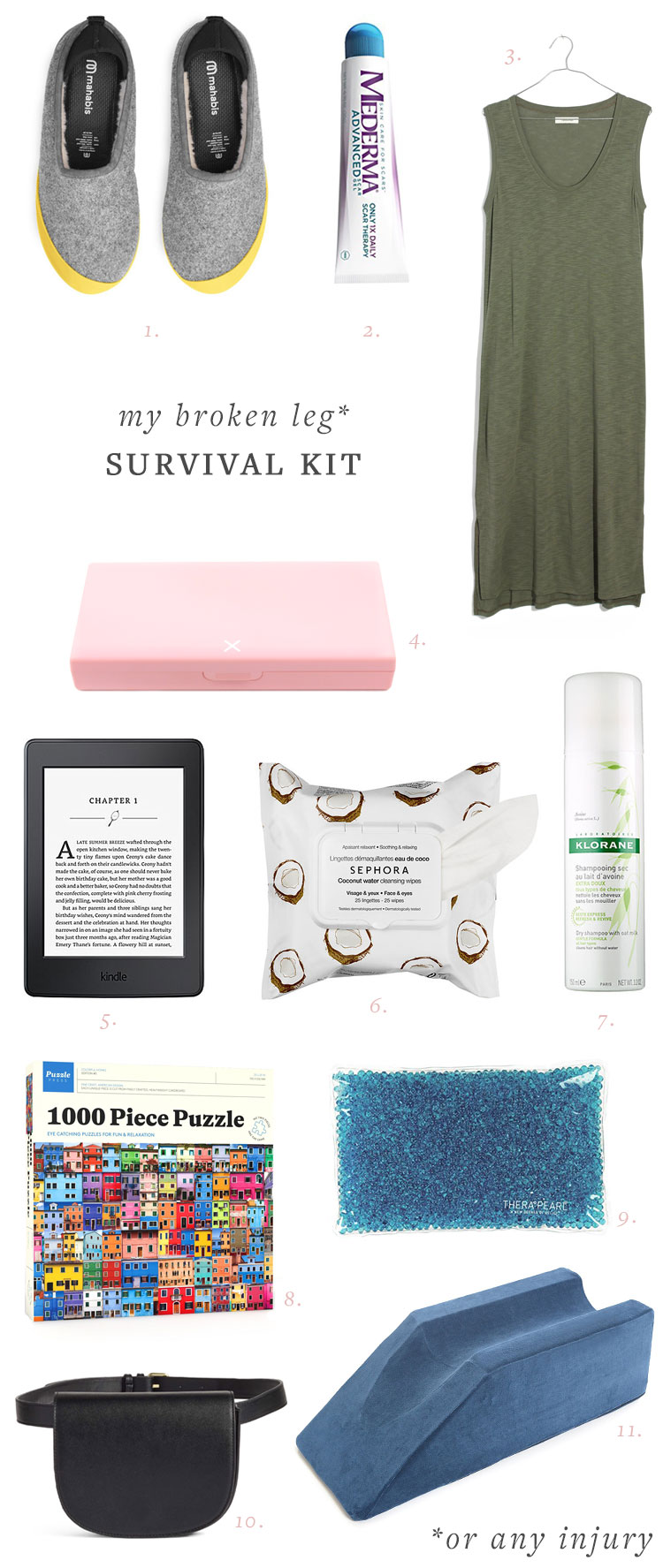 have a broken leg or other injury that requires bed rest? this is the ultimate survival kit for coping! get the full list on jojotastic.com
