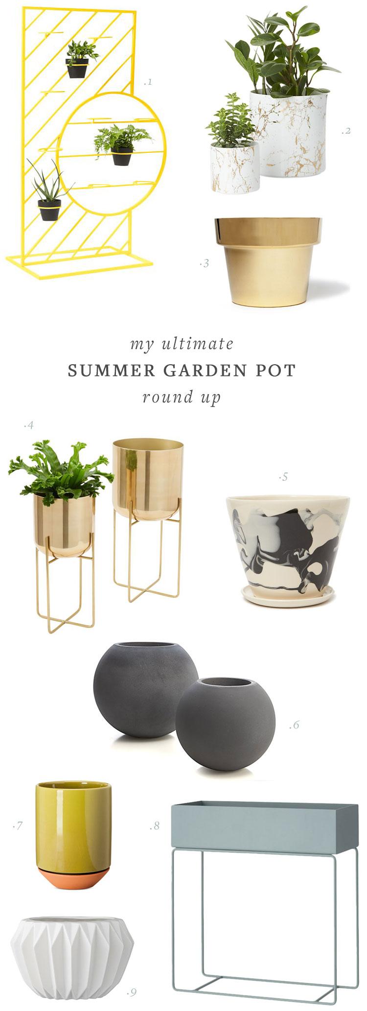 jojotastic - my ultimate summer garden pot round up on