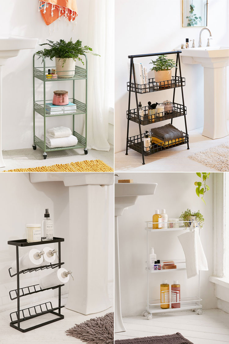 storage essentials for a small bathroom via jojotastic on jojotastic.com