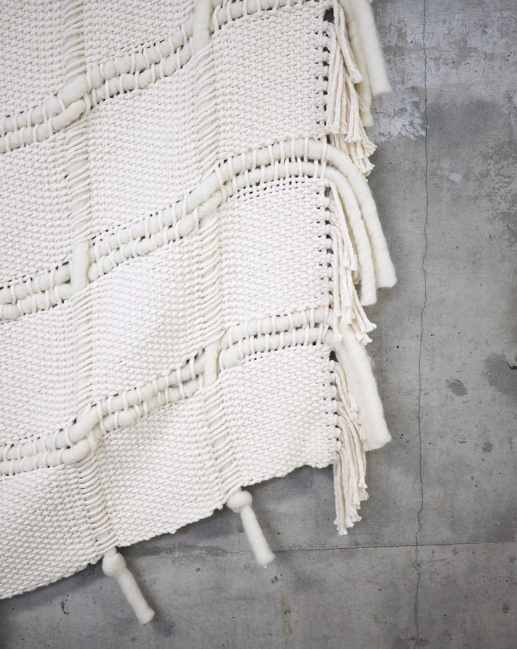 the friday edit. handwoven ivory blanket