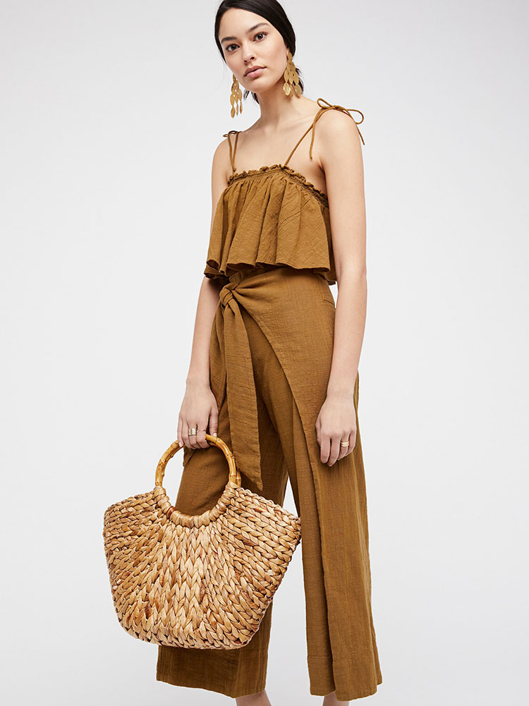 the friday edit. olive mustard green jumpsuit.
