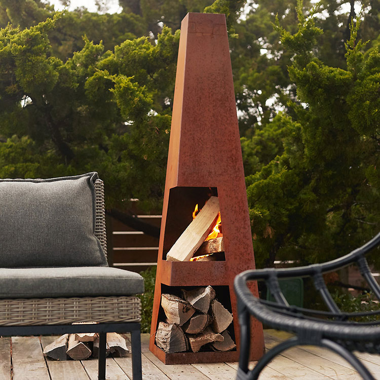 the friday edit. modern fire pit chiminea.