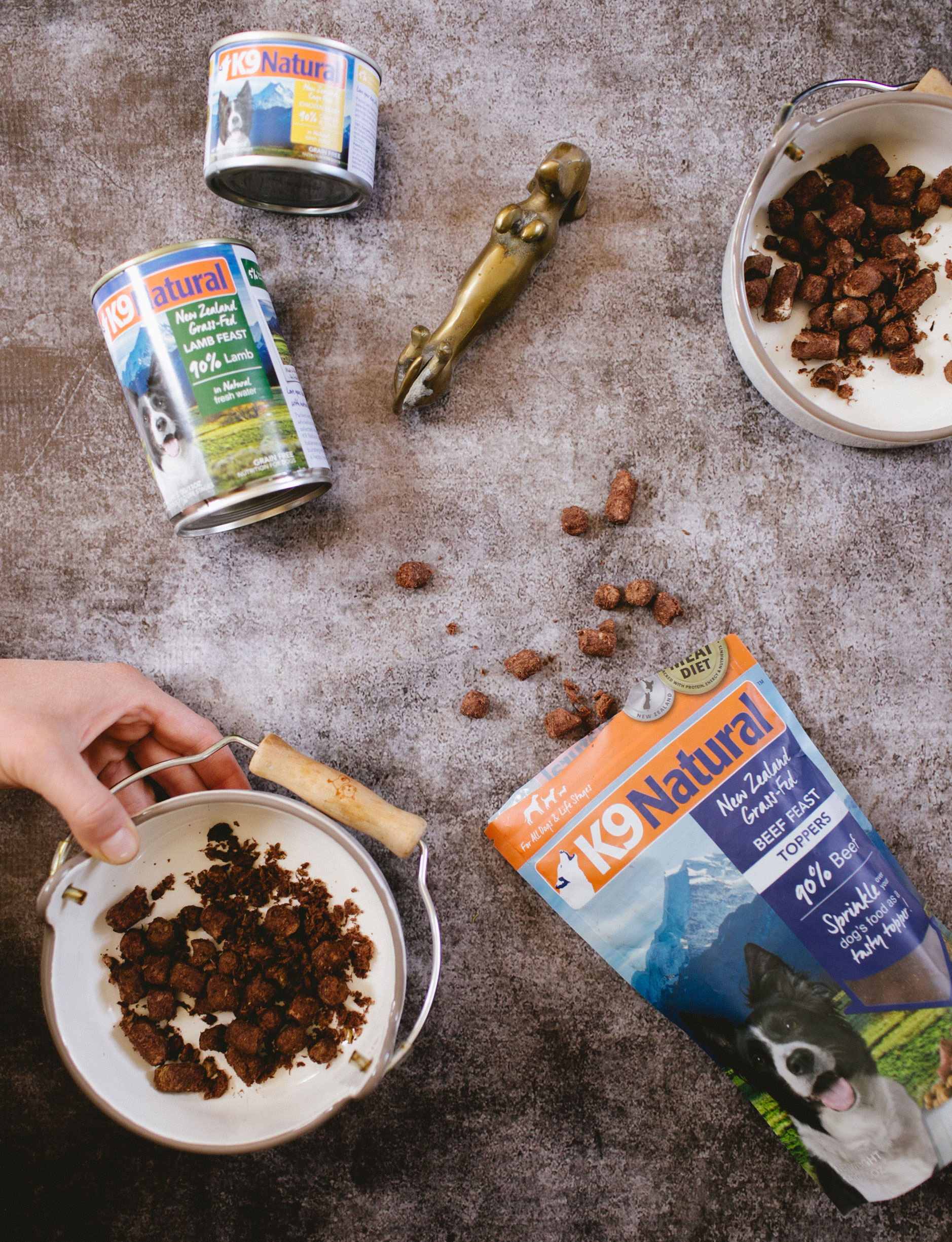 the simple joy of being home & pampering our dogs with @k9natural, a dog food made with grass-fed and free range meats and proteins and wholefood ingredients. Find out more on Jojotastic.com #ad