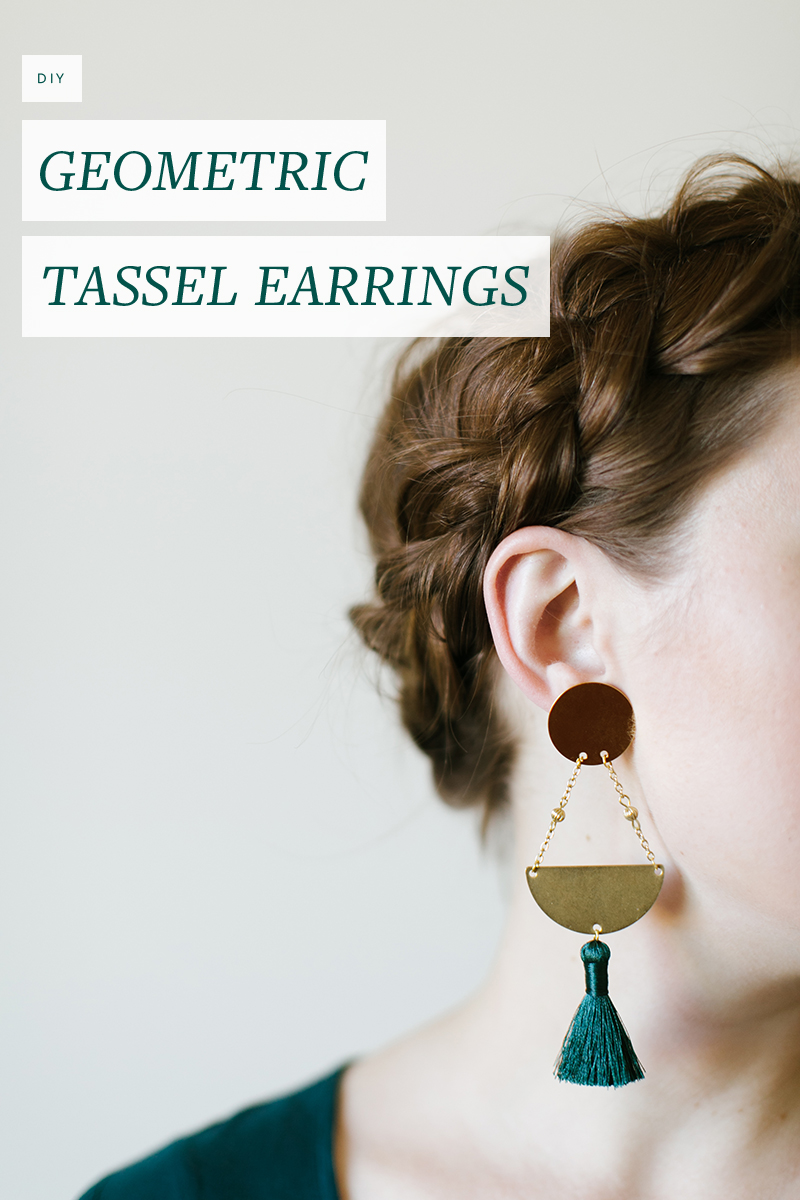 Make these pretty geometric tassel earrings in under a half an hour!