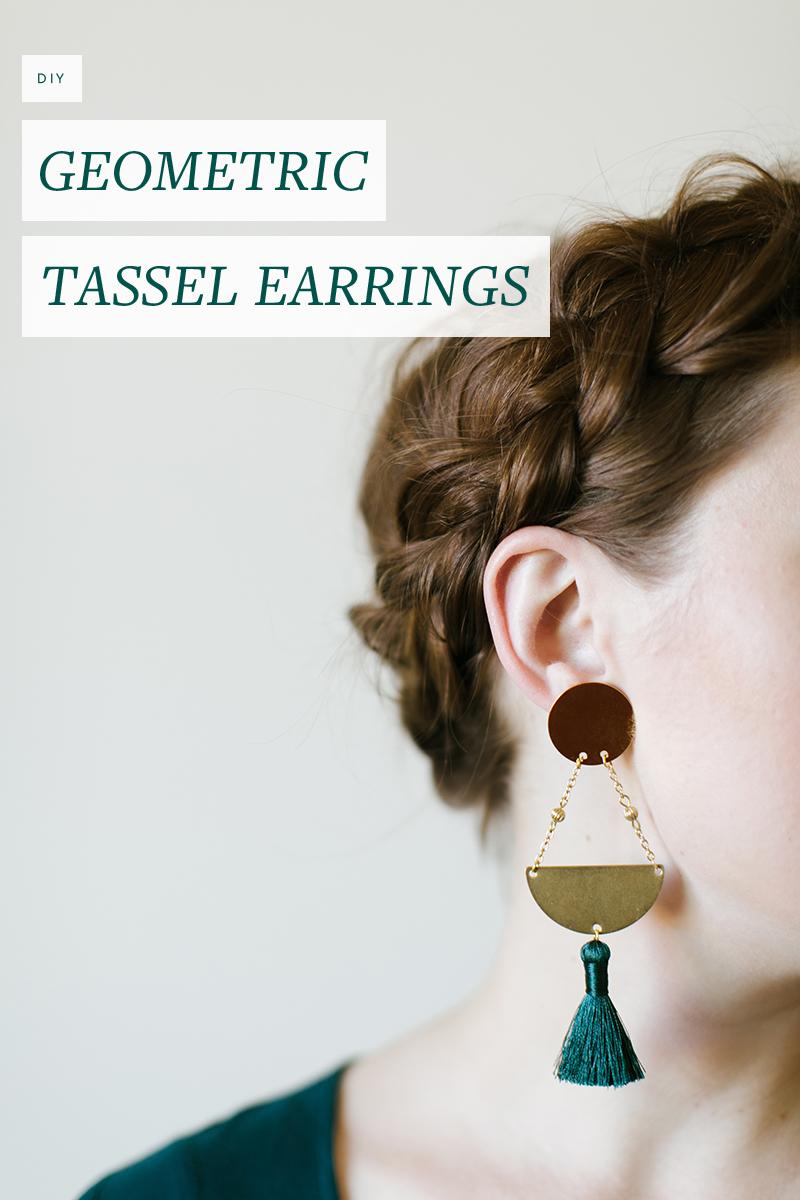 Make these pretty geometric tassel earrings in under a half an hour!