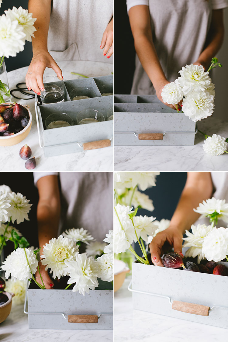 DIY a rustic centerpiece to celebrate figs & the end of summer. get the full flower arrangement tutorial on jojotastic.com