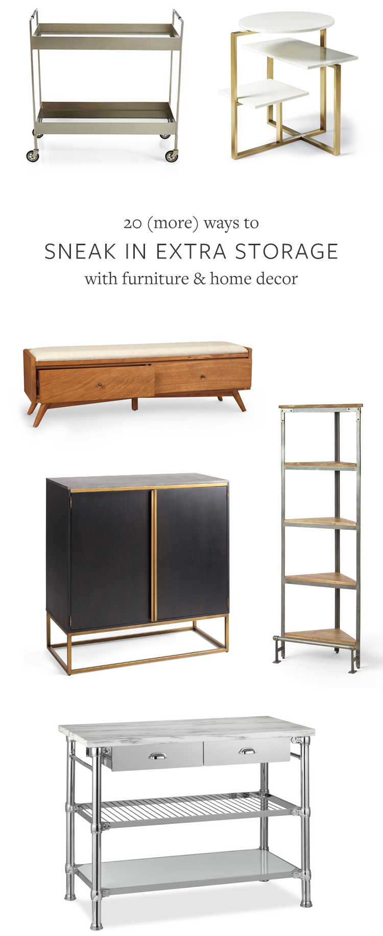 20 more ways to sneak in extra storage with furniture for Furniture and more