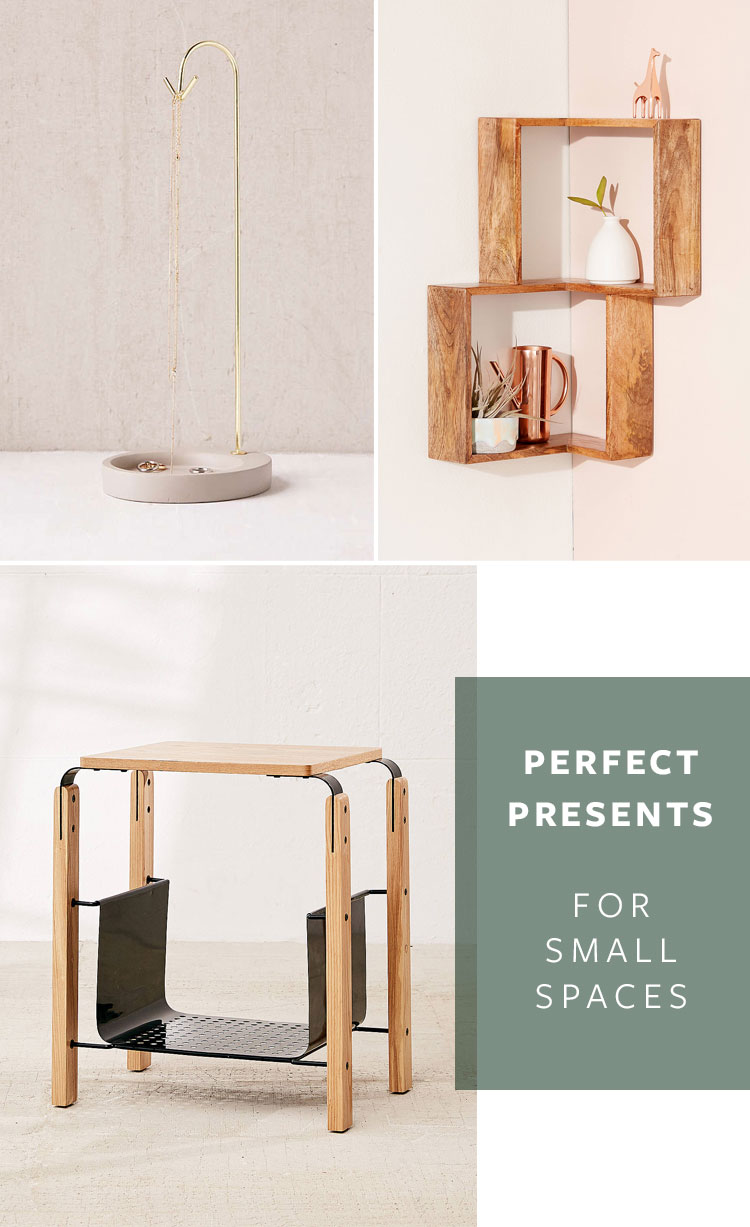 perfect presents for small spaces, tiny houses, or people who are obsessed with organization! #giftguide #smallspaces #tinyhouse