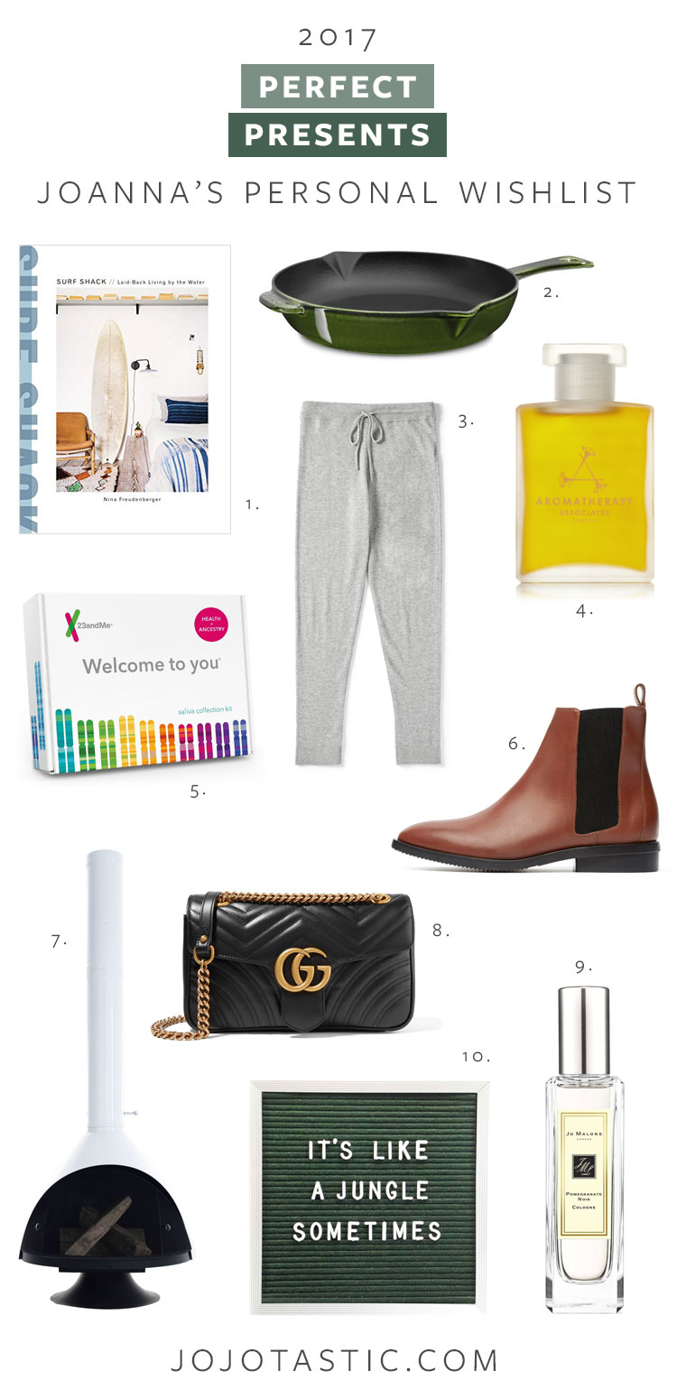 perfect presents gift guide, Joanna's personal wishlist! #giftguide #christmasgifts #giftsforher