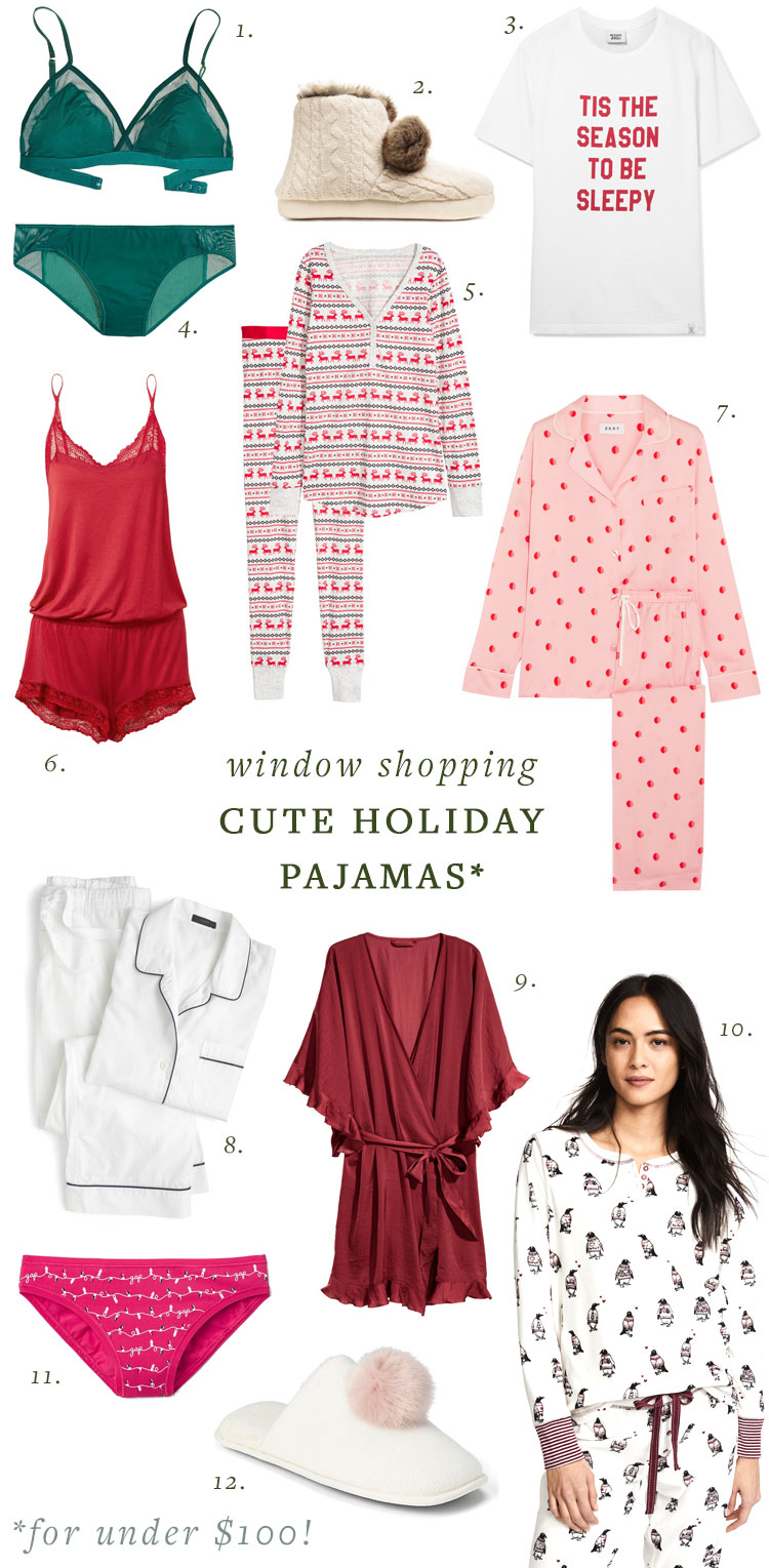 window shopping. cute holiday PJs (for under $100!) #christmas #pajamas