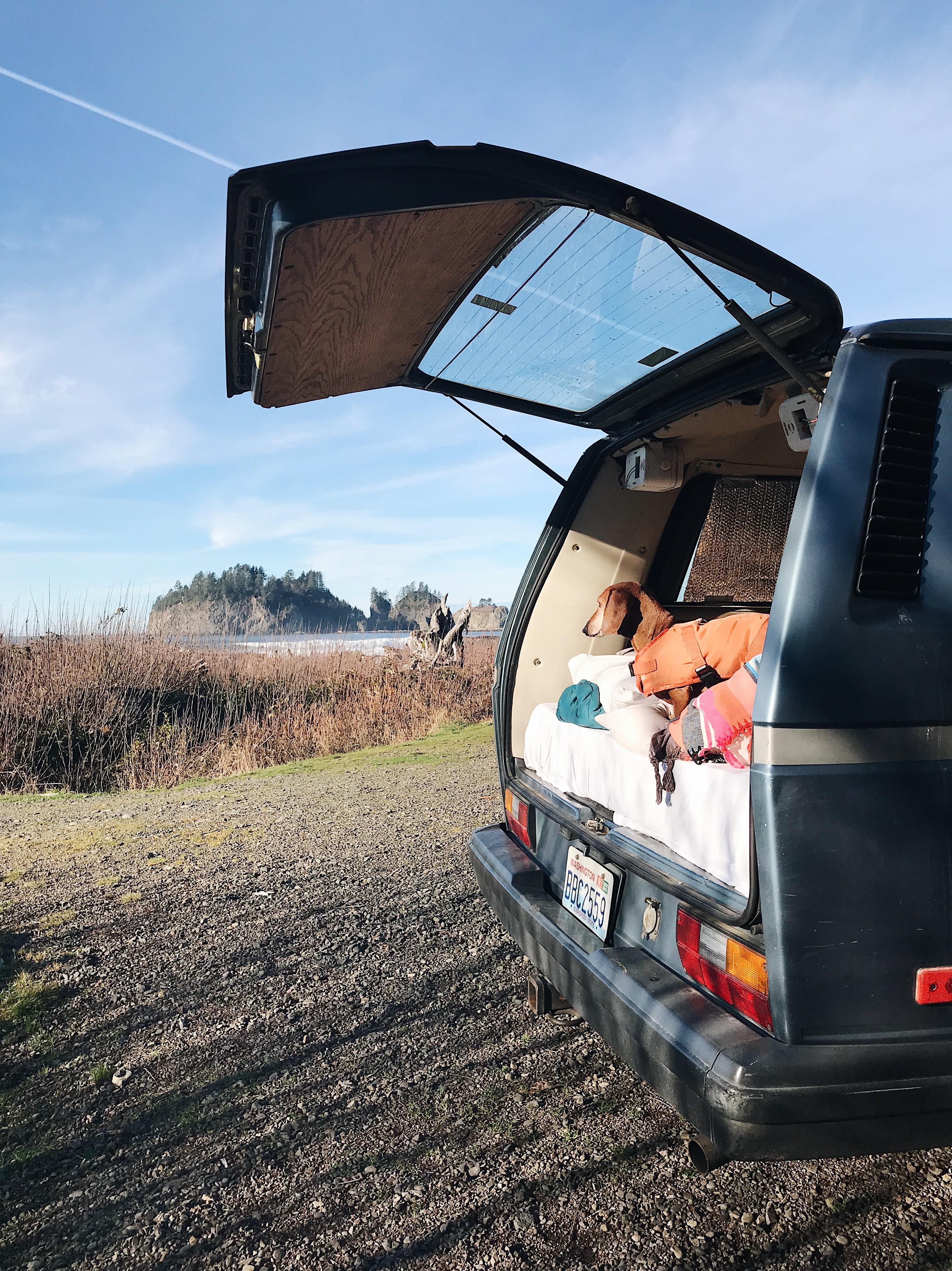van life. our weekend away at La Push + video #travel #lapush #vanlife