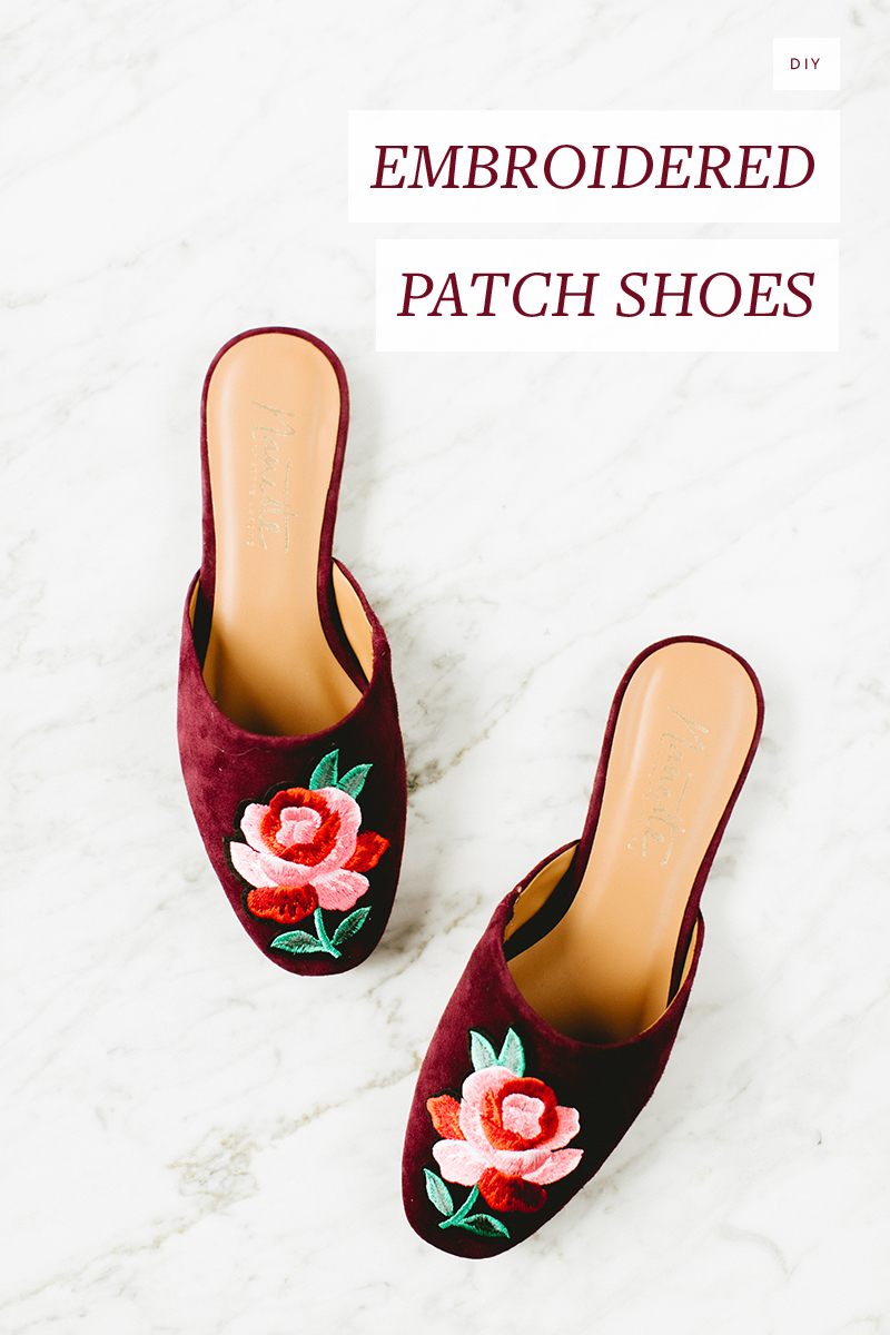 Give your closet a refresh and add on-trend style to your favorite #shoes by embellishing them with cool embroidered patches. Get the full #DIY tutorial at Jojotastic.com.