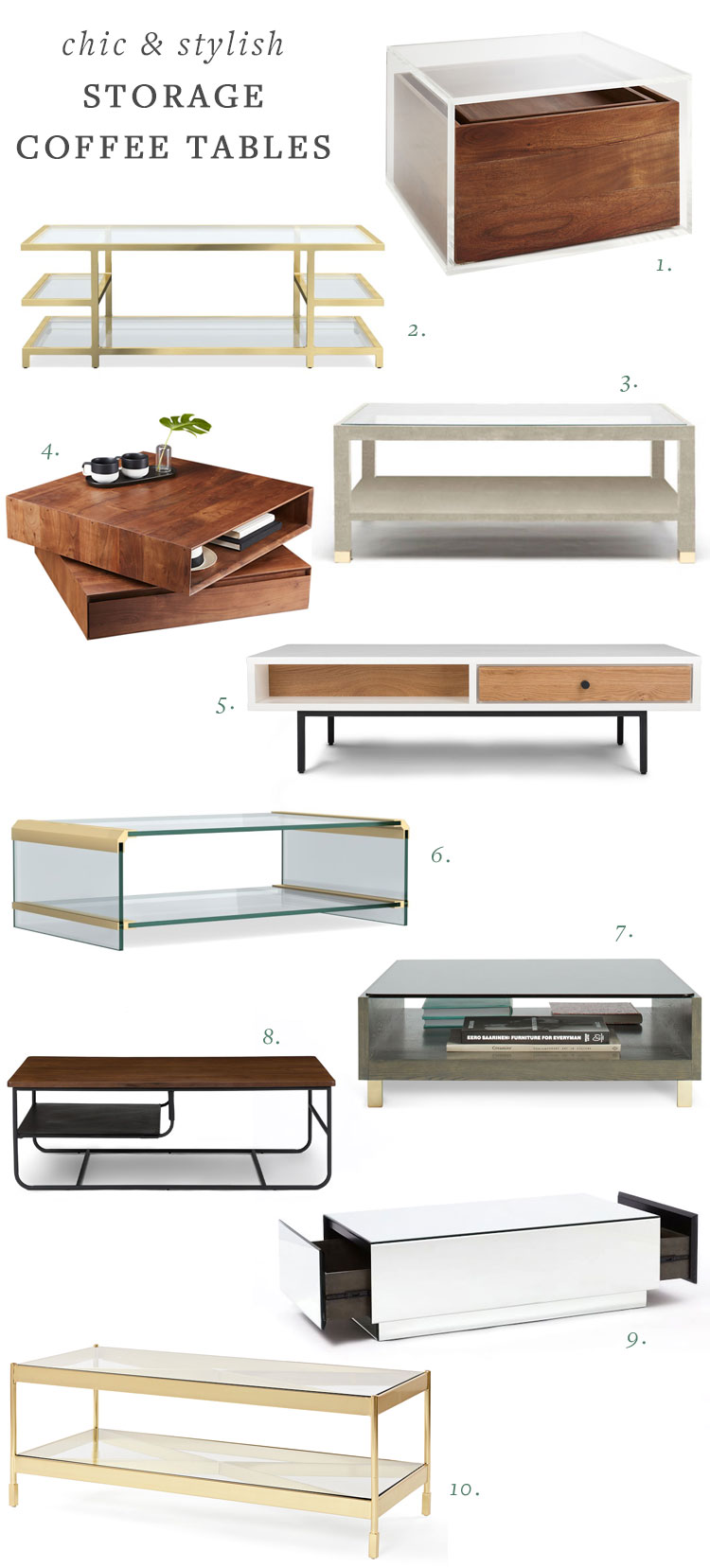my search for a stylish coffee table with storage for my small space. #smallspaces #storage #tipsandtricks #coffeetable