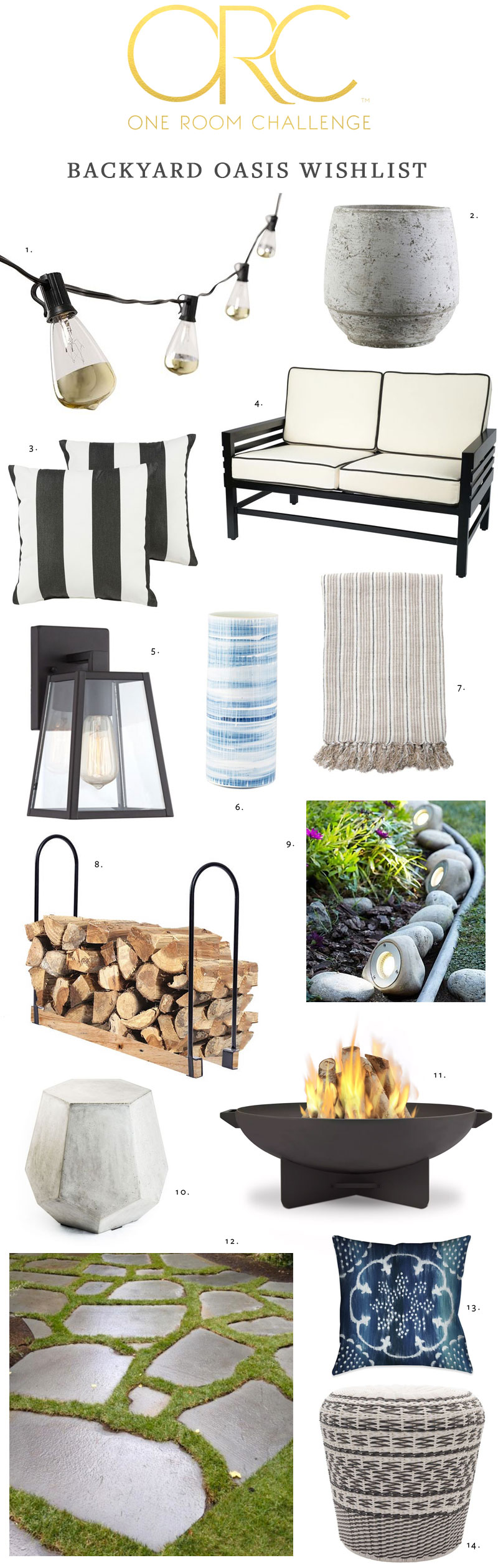 One Room Challenge, my backyard oasis makeover week 1. before photos, moodboard and design inspiration. @mycraftyhmelife #oneroomchallenge