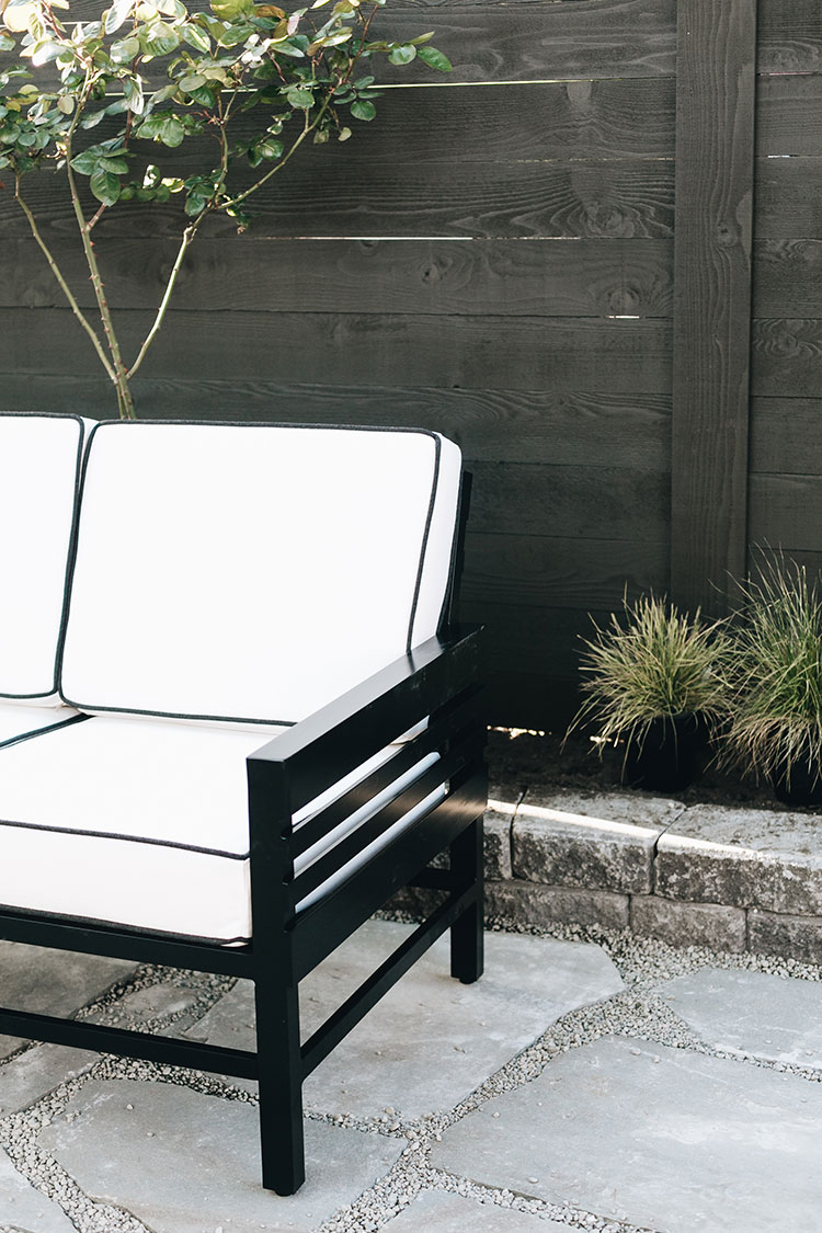 One Room Challenge, my backyard oasis makeover week 5. makeover progress with bluestone pavers, @storimodern furniture, and garden planning. @mycraftyhmelife #oneroomchallenge
